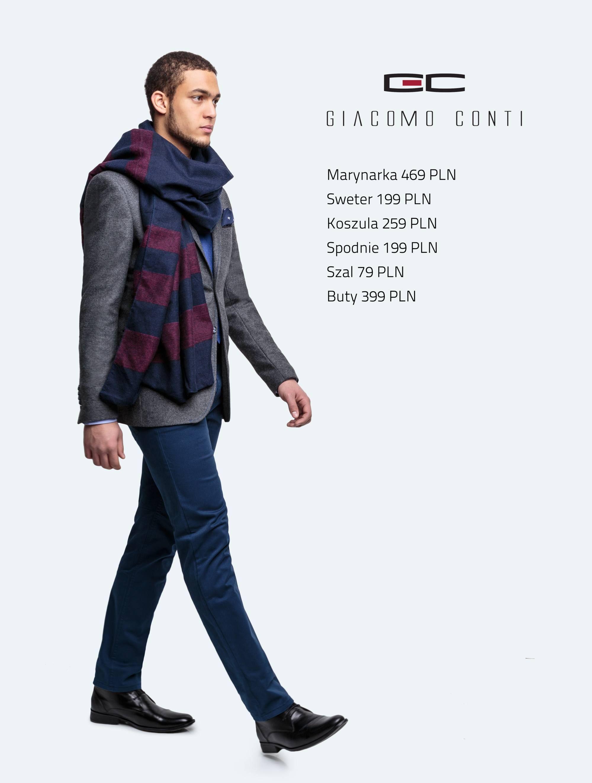 Stylizacja Giacomo Conti: marynarka Antonio  14/67 SM, koszula Enrico slim 14/44T, spodnie Riccardo 14/40 K #giacomoconti
