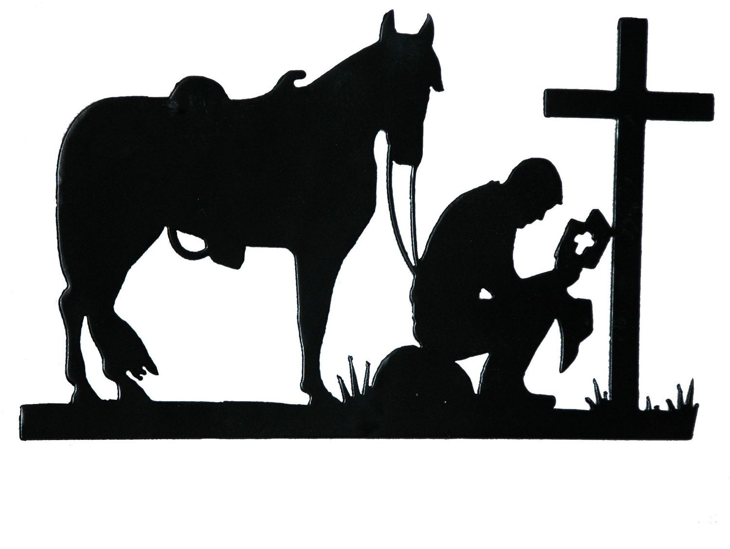 Popular items for praying cowboy on etsy want it don for Cowboy silhouette tattoo