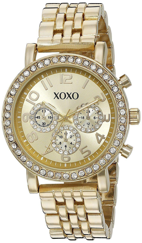 Xoxo womens quartz metal and alloy watch colorgoldtoned model