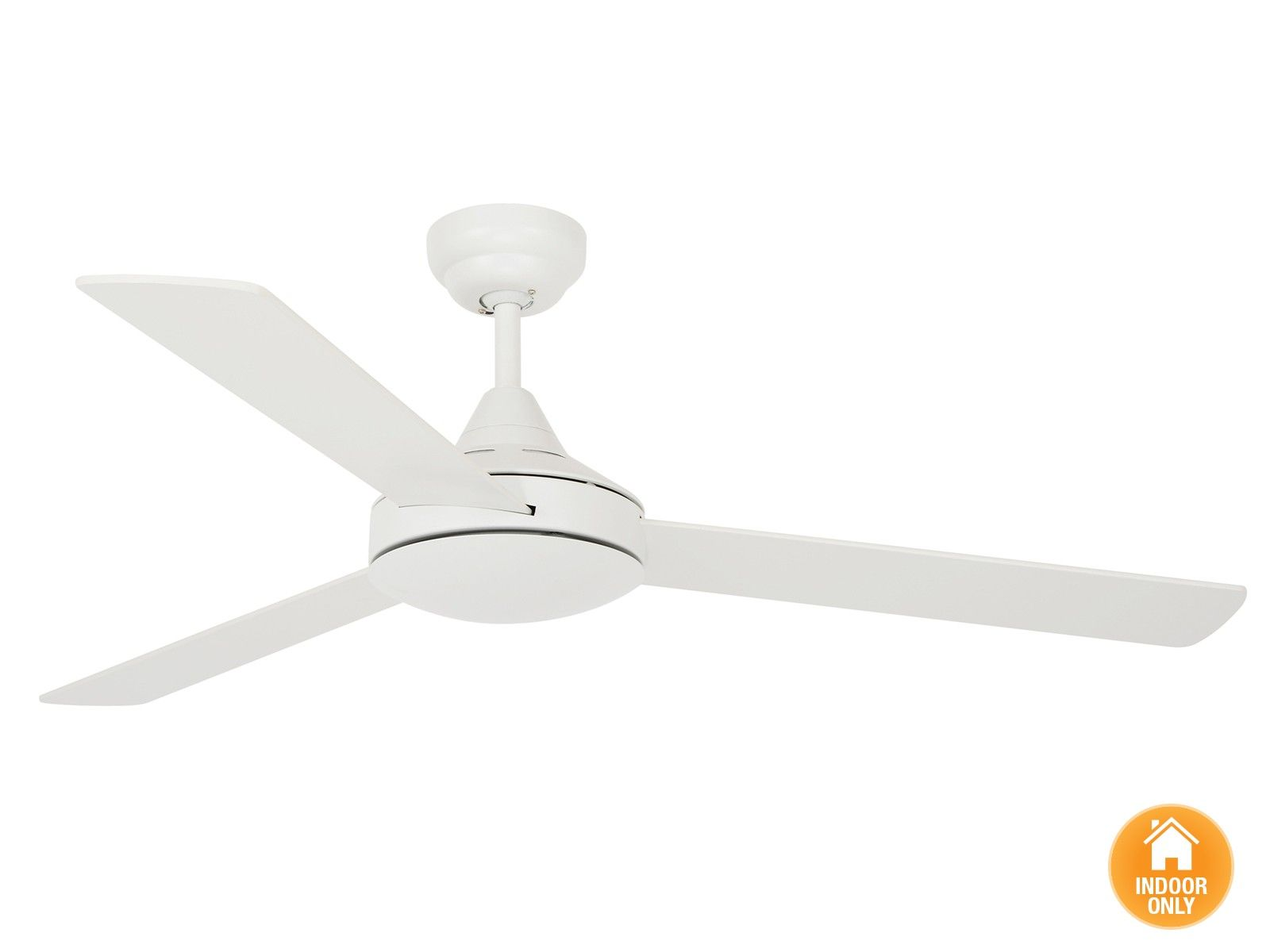 Airfusion Airlie 122cm 3 Blade Fan Only In White White Ceiling