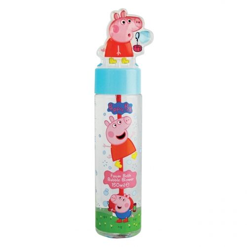 PEPPA PIG FOAM BATH BUBBLE BLOWER, £3.99 Foam Bath with fun bubble blower attachment featuring popular kid's character, Peppa Pig. 150ml.