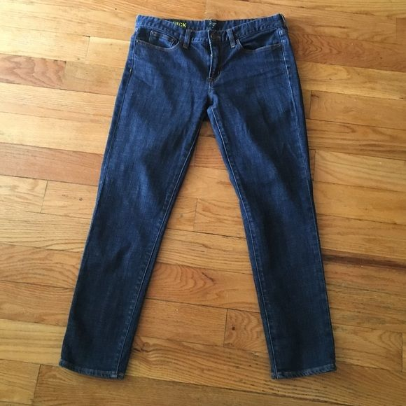 J.Crew dark wash toothpick jeans Dark wash toothpick jeans. 98% cotton and 2% spandex for a hint of stretch. Size 30. J. Crew Jeans