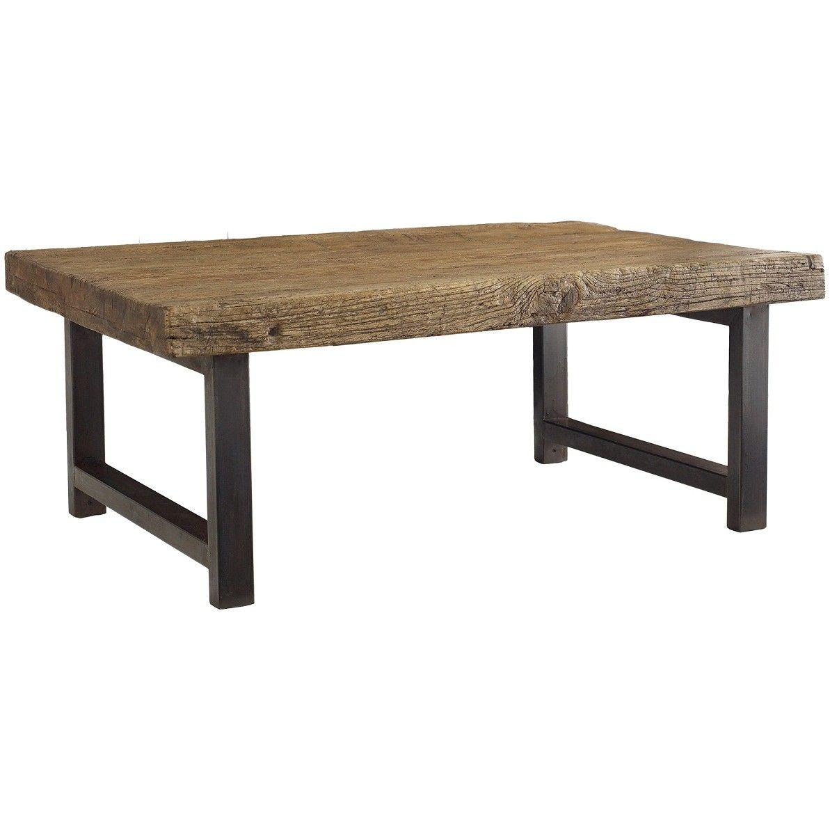 rustica iron leg coffee table 48 zin