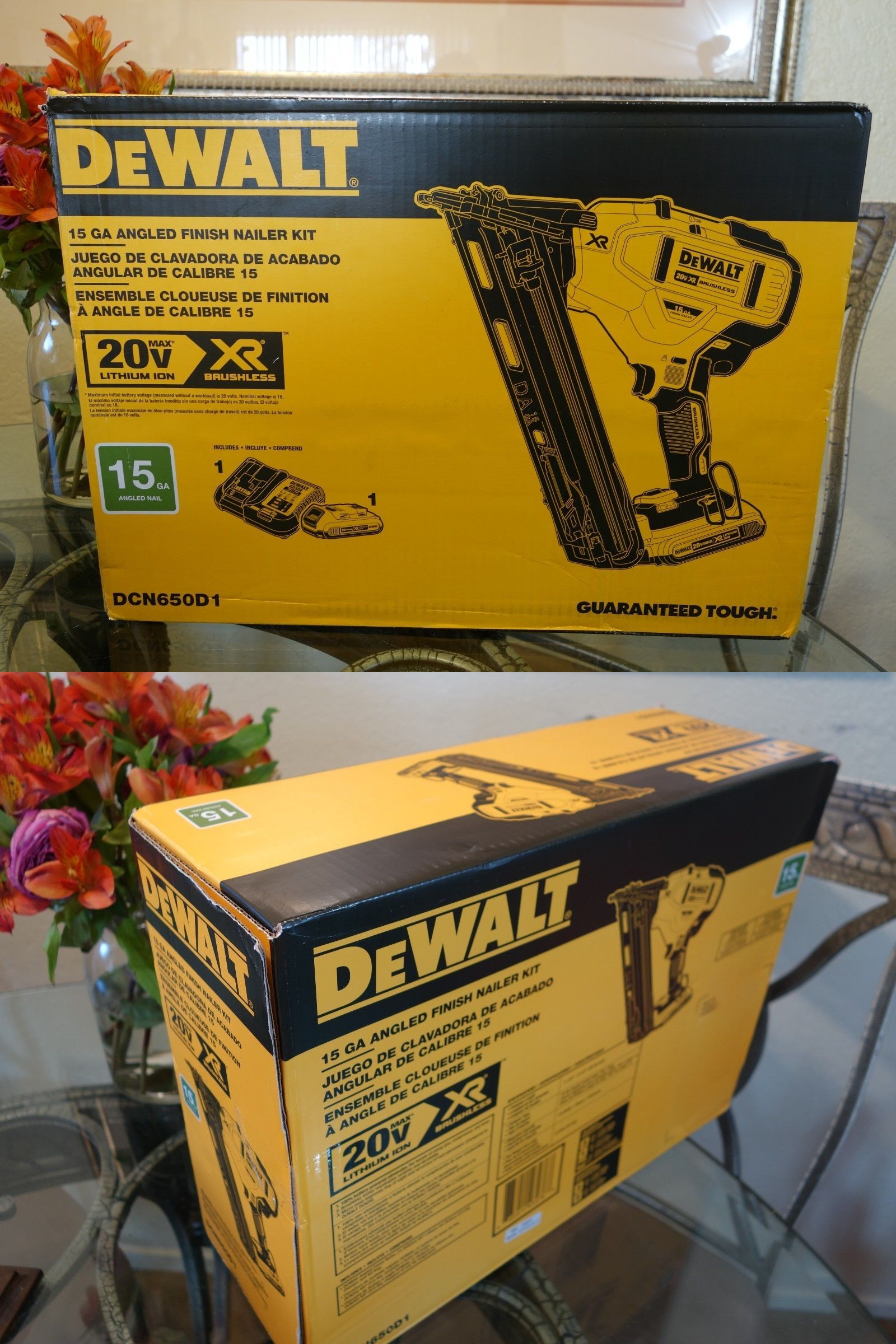 Nail And Staple Guns 122828 Dewalt Dcn650d1 15 Gauge 20 Volt Xr Brushless Angled Finish Nailer Kit 20v 15ga Buy It Now Only 305 Nailer Dewalt Staple Guns