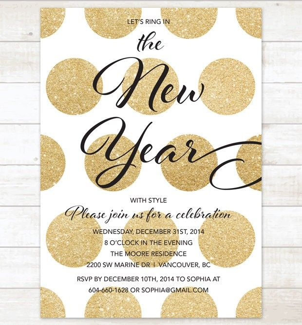 black and gold new years party invitation 2015 new year ideas printable invitation