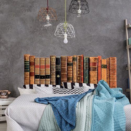 Tete De Lit Bibliotheque Avec Fausse Bibliotheque De Livres Anciens En Trompe L Oeil Chambre Livres Bibli Sticker Tete De Lit Lit Bibliotheque Tete De Lit