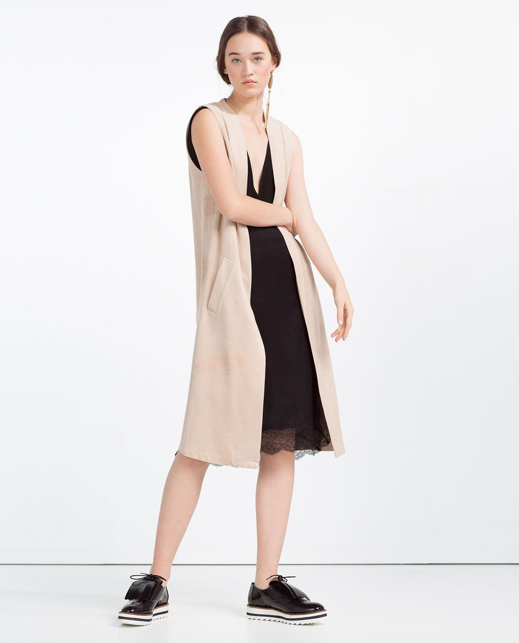 ZARA - COLLECTION SS16 - LONG WAISTCOAT WITH BACK OPENING