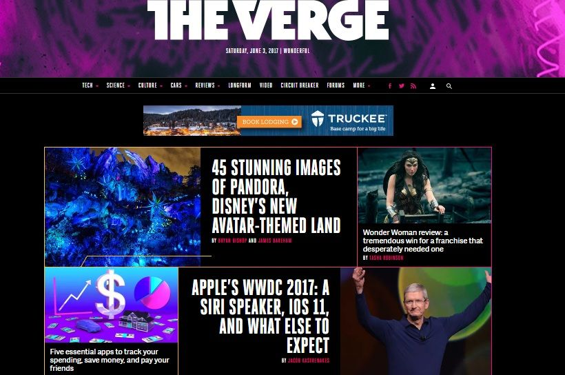 the verge card design layout web design trend web design