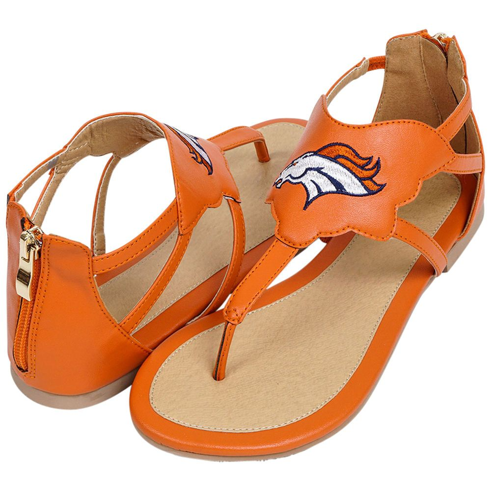 Cuce Denver Broncos Women s Orange Gladiator Sandals  15fa54d5f
