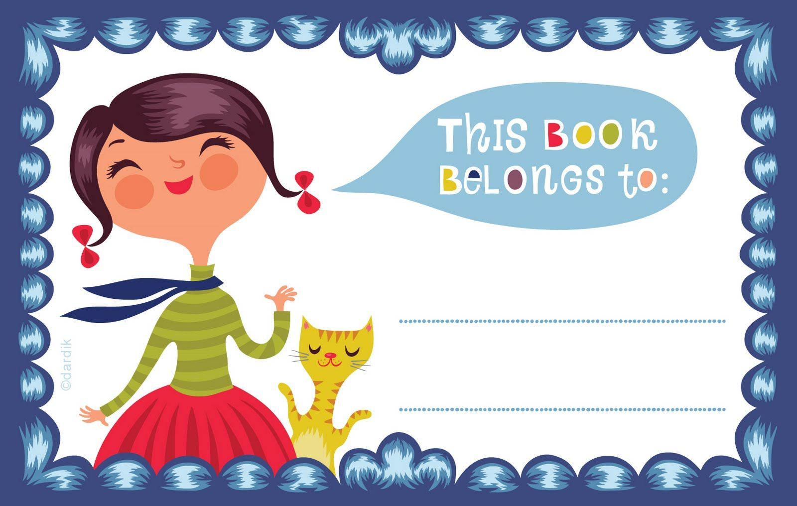 free back to book label from orange you lucky printables