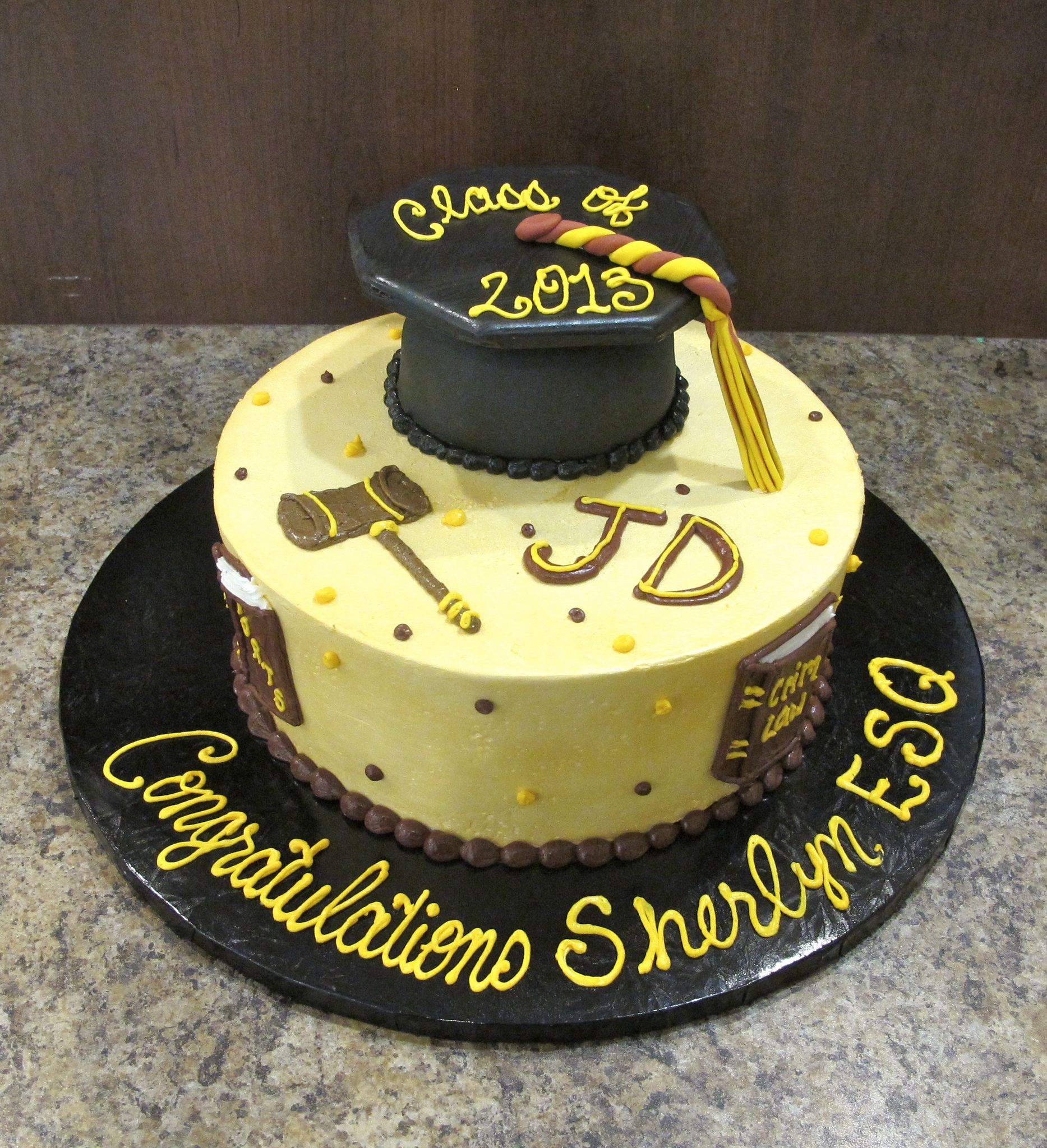 Law School Graduation Cake Toppers