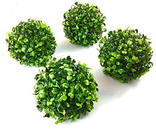 """Green Decorative Balls Decorative Balls 4 Balls 4"""" Boxwood Ball Blaak Penny Https"""