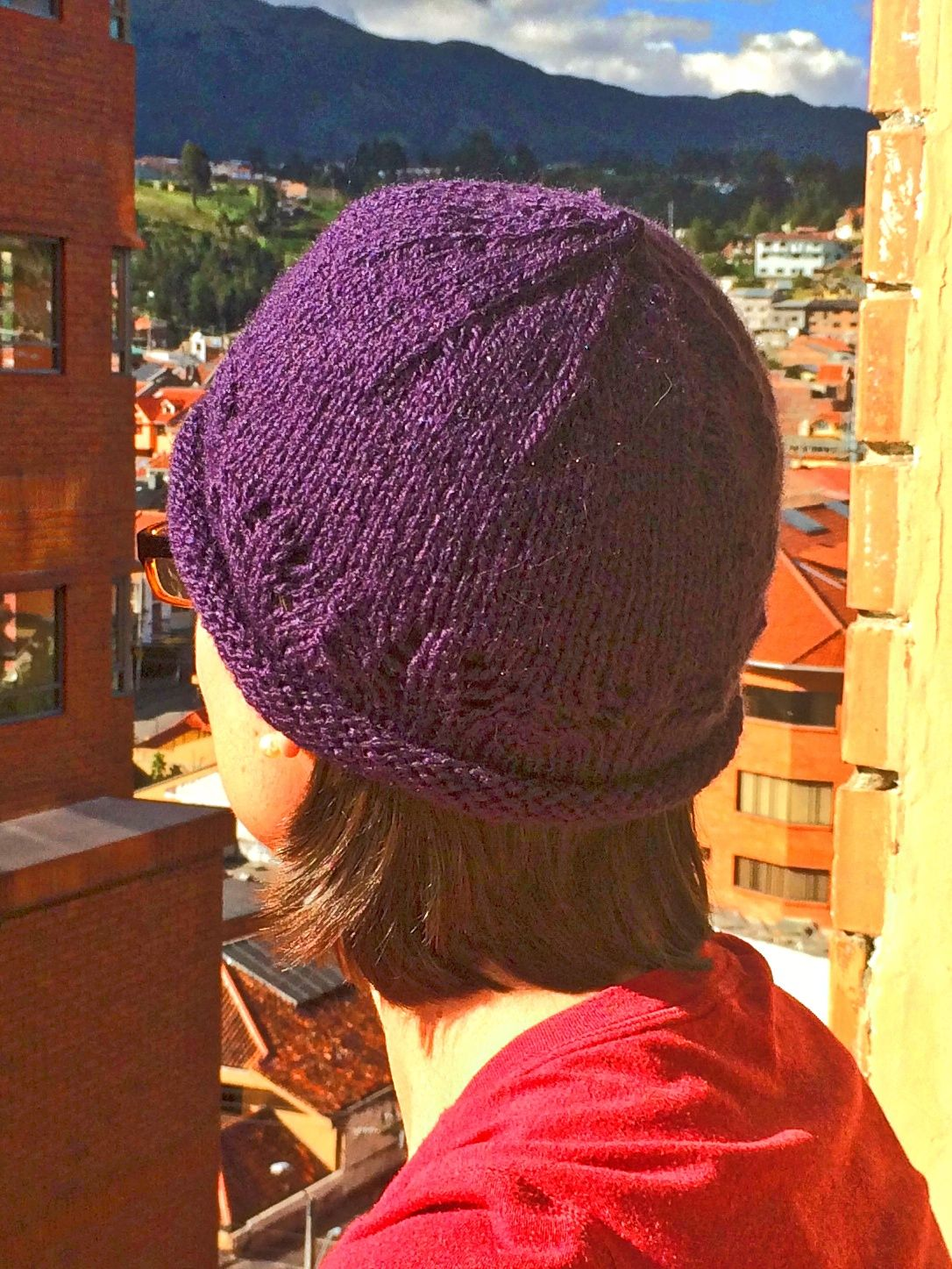 Apparel | purple lace hat knitted