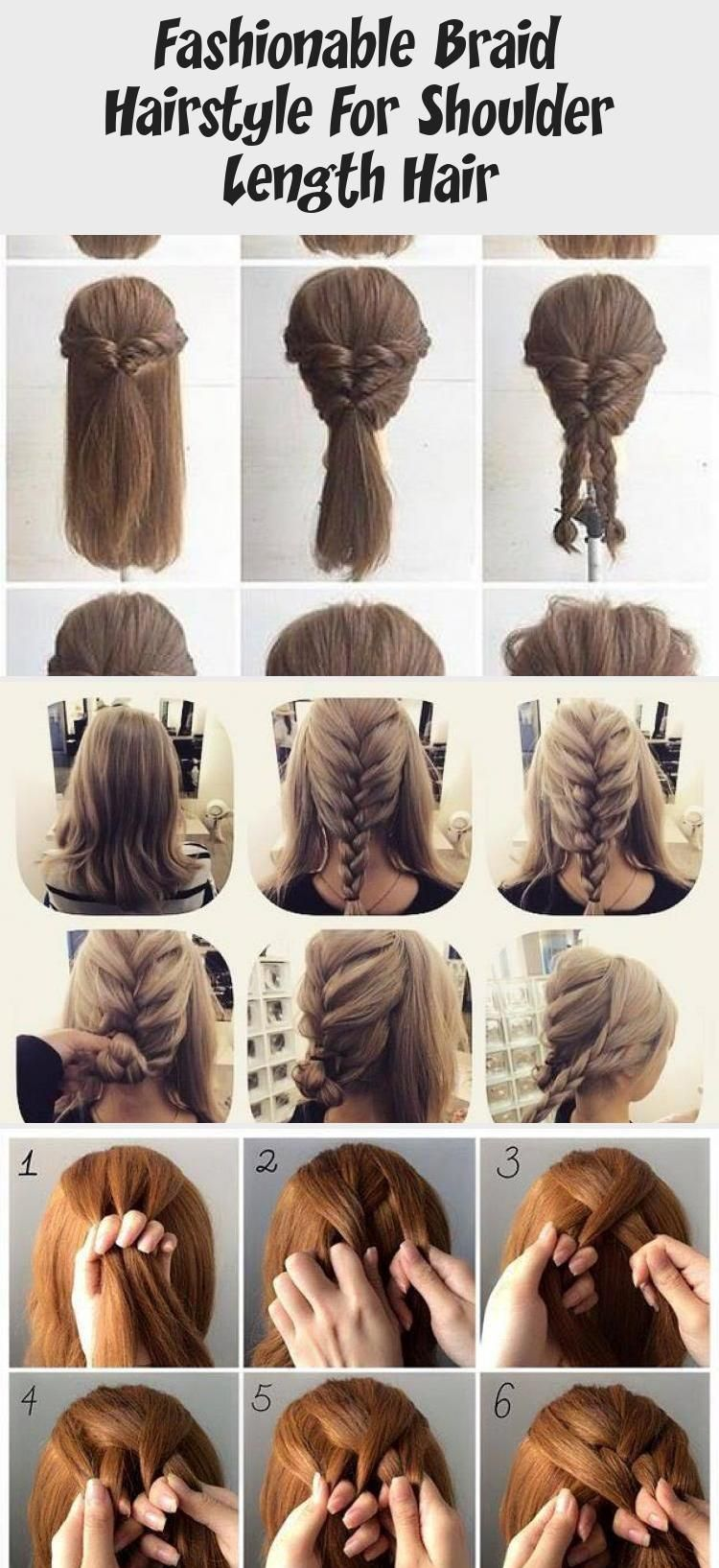 Fashionable Braid Hairstyle For Shoulder Length Hair Shoulder Length Hair Tuto Braid Fashionable Ha In 2020 Shoulder Length Hair Hair Lengths Braided Hairstyles