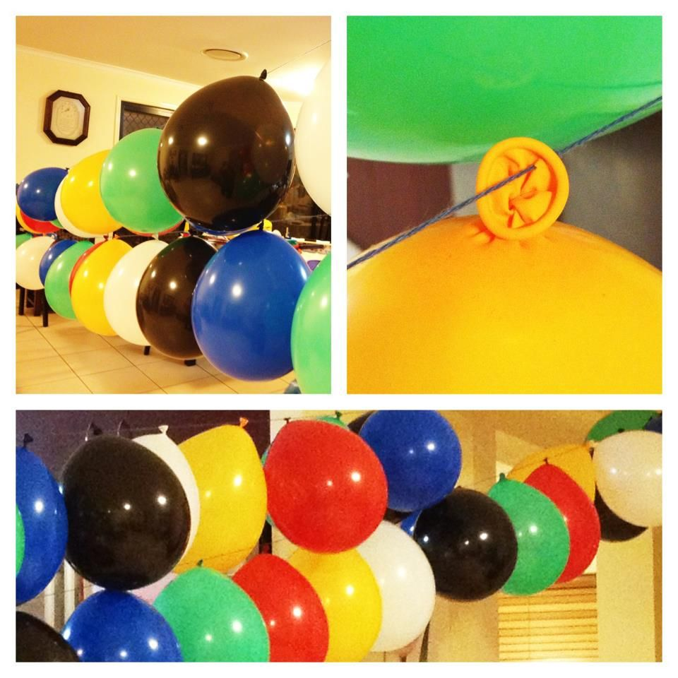 ballon garland. sorry can't remember where i got this idea