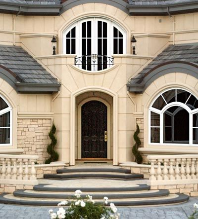 Symmetry A Vague Sense Of Harmonious And Beautiful Proportion And Balance Custom Entrance Doors House Exterior New Home Construction