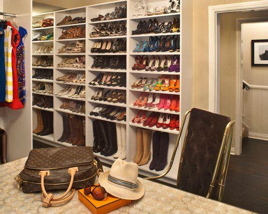 Shoe wall2 closet space pinterest for Decoracion closet en madera