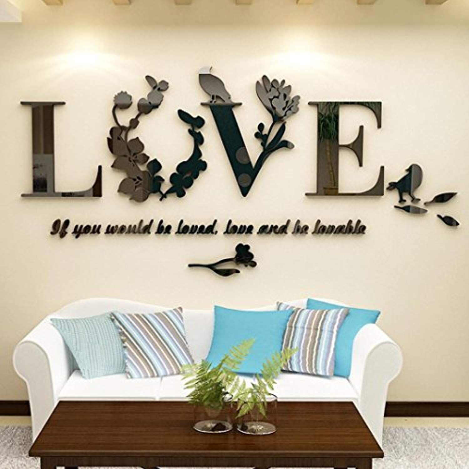 Clearance Wensltd Stylish Removable 3d Leaf Love Wall Sticker Art Vinyl Decals Bedroom Deco Wall Stickers Living Room Wall Stickers Bedroom Wall Stickers Love