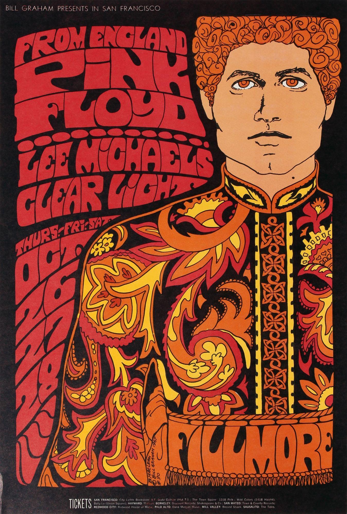 Pink Floyd Original Concert Poster Vintage Rock Poster ...