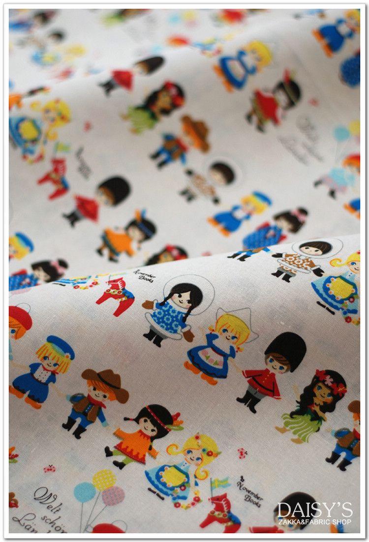Kids Of The World Japanese Fabric Pushpin X Kokka