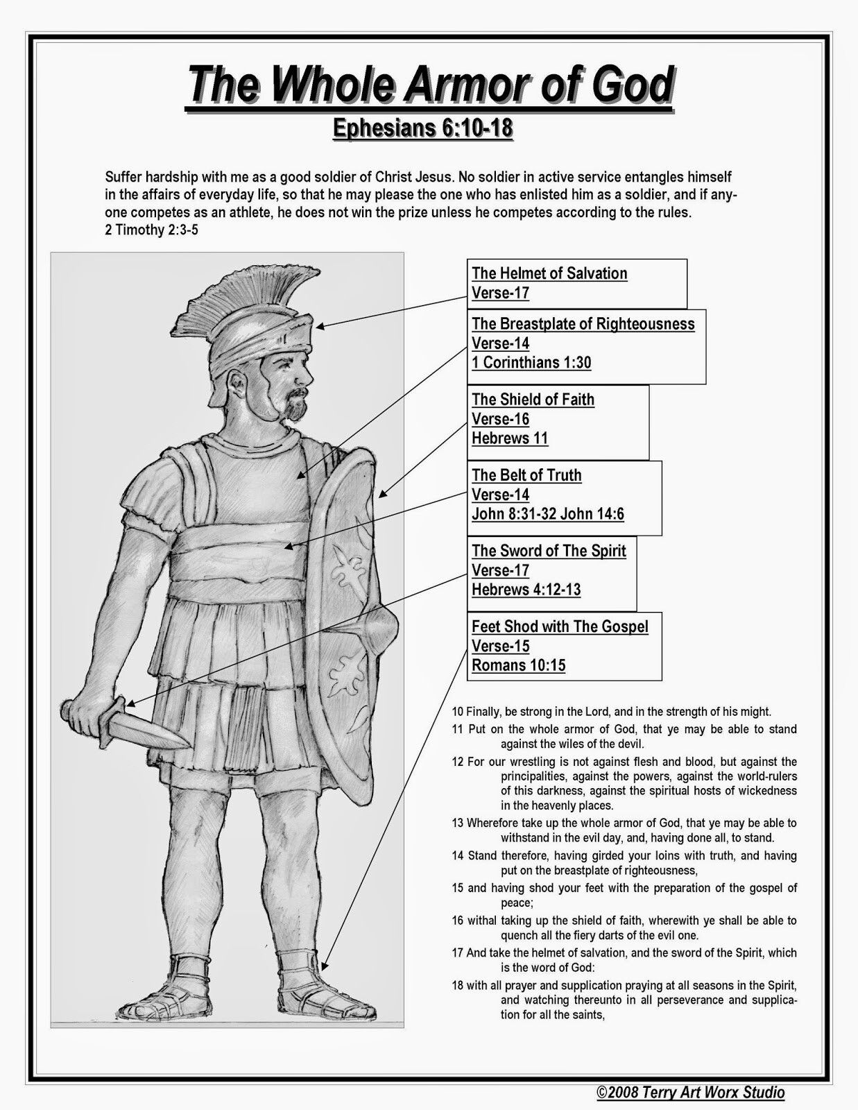 Image result for the whole armor of god kjv