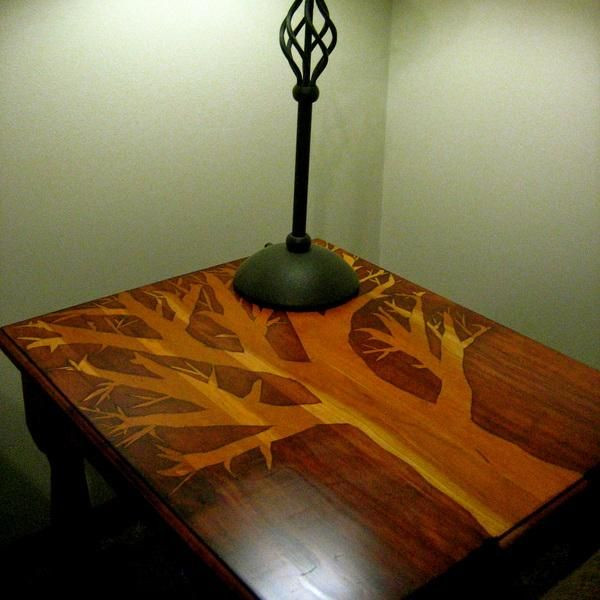 Two Tone Stain With A Stencil
