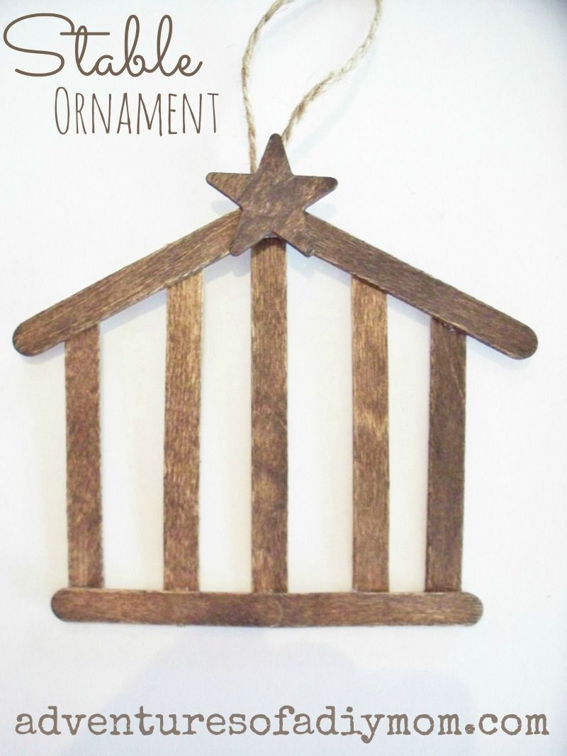 How to Make a Stable Ornament - Nativity Ornament Series | Crafts ...