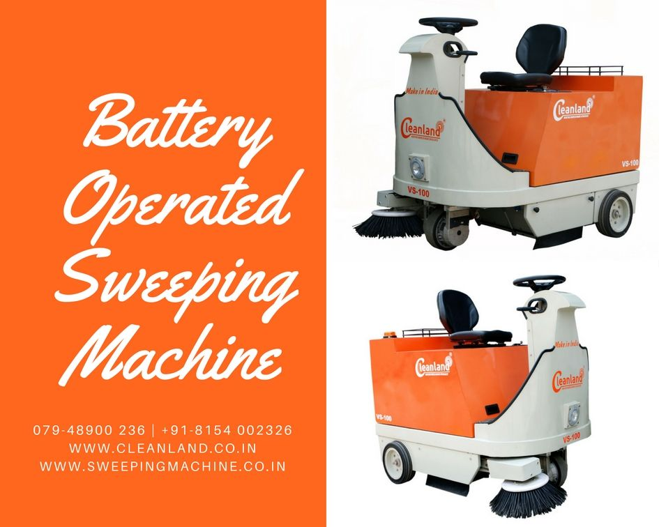 Cleanland Battery Operated Sweeping Machine Designed For Societies Inside Factory Area Hospitals Education Institute Machine Design Toy Car Battery Operated