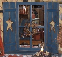 primitive star window | lighted items mirrored window frame mirrored window frame, black or cream would be better