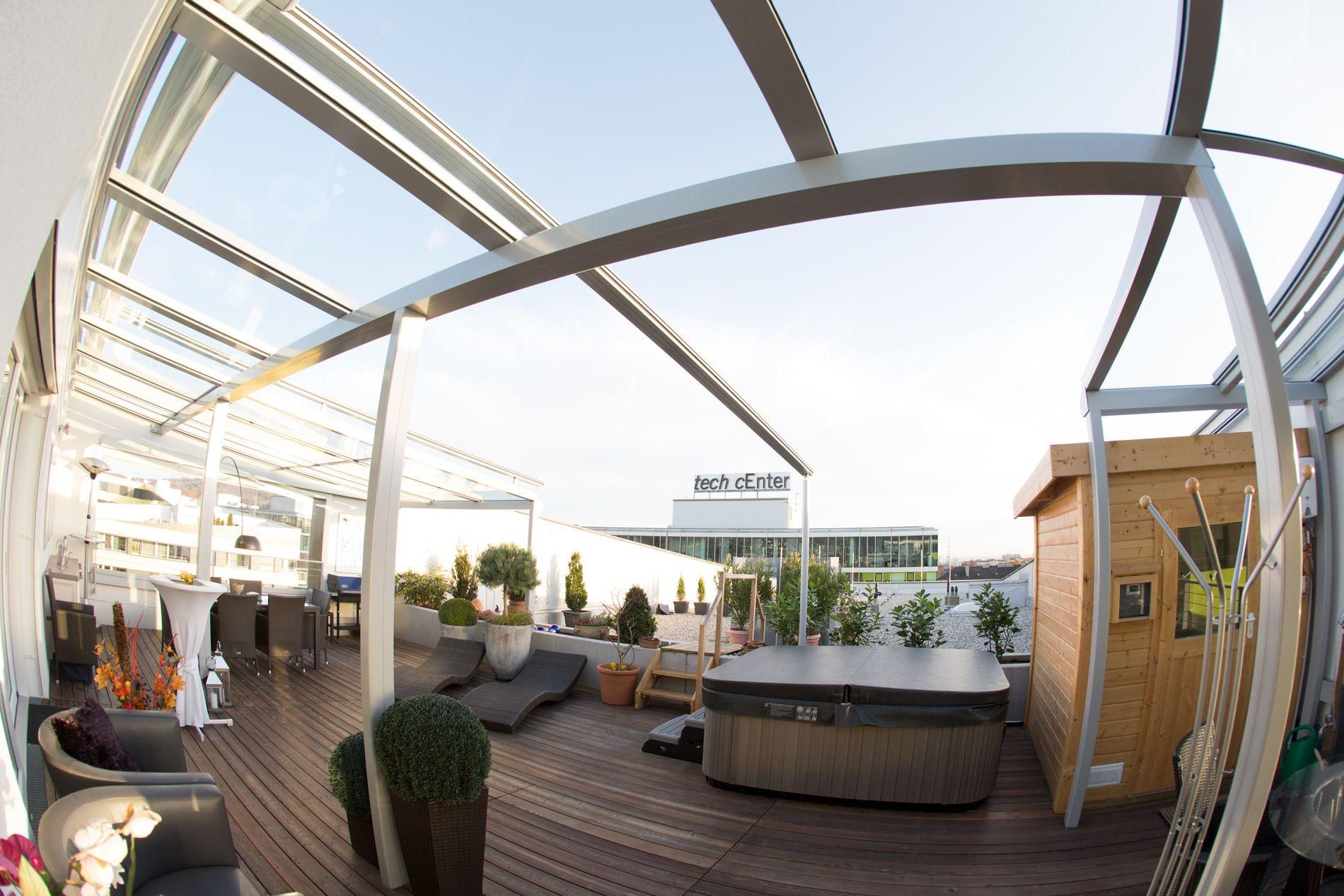 terrassendach mit beschattung | verglasungen // balkon, terrasse