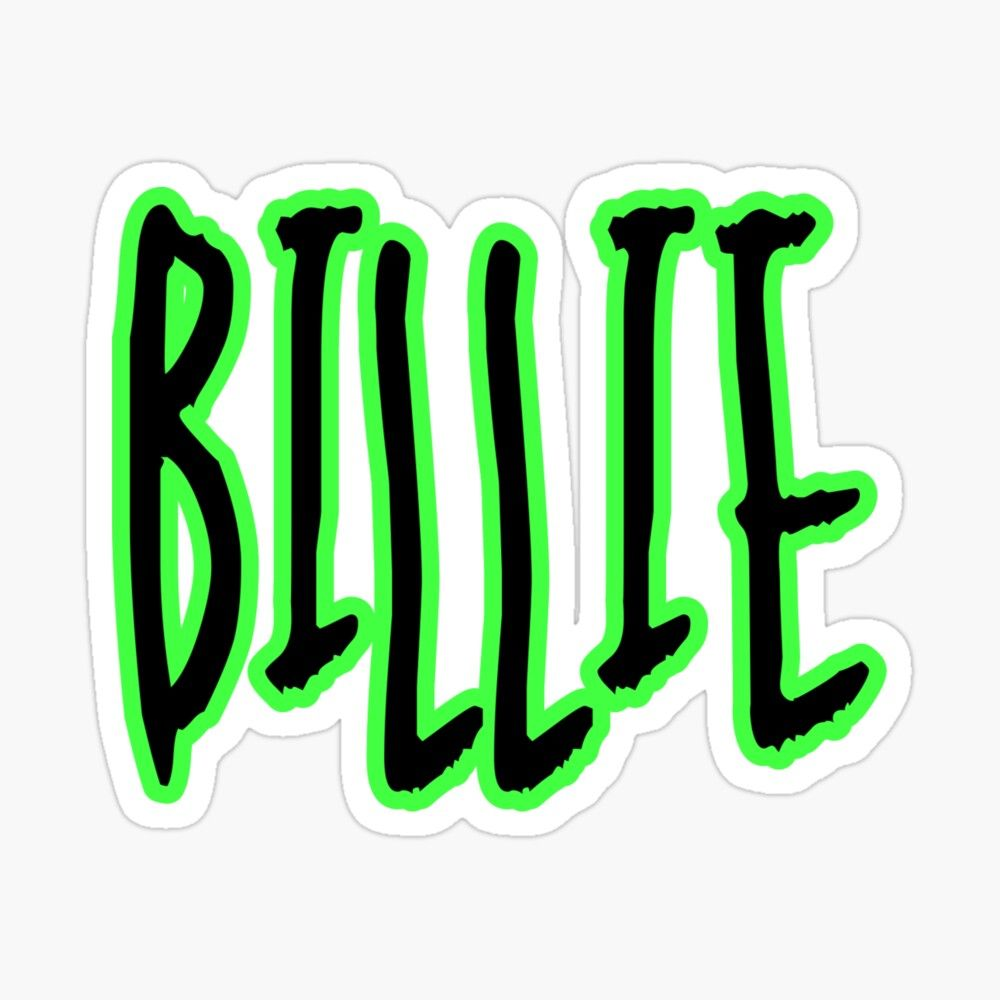 Get My Art Printed On Awesome Products Support Me At Redbubble Rbandme Https Www Redbubble Com I Sticker Billie Eilis Billie Eilish Billie Green Aesthetic