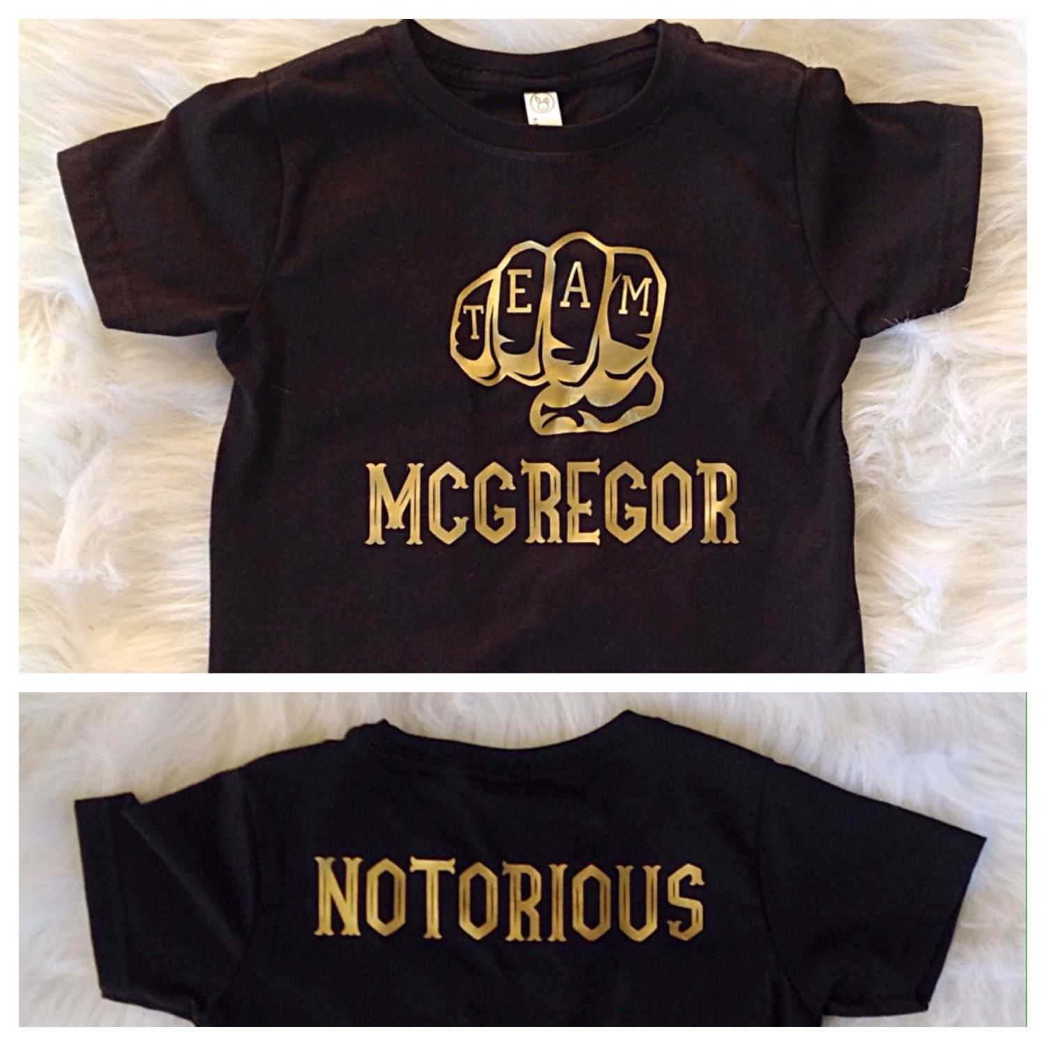 8dd2e45d5 Team McGregor/ The Notorious/ Conor McGregor toddler shirt/ Gold print/  baby gift/ UFC fan/ Unisex toddler shirt by Liljopeepshop on Etsy