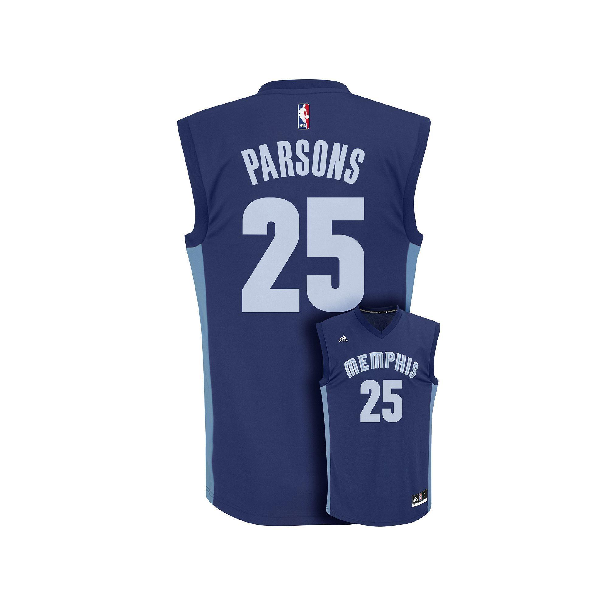 4805c963477 Men's Adidas Memphis Grizzlies Chandler Parsons NBA Replica Jersey, Size:  Medium, Blue (Navy)