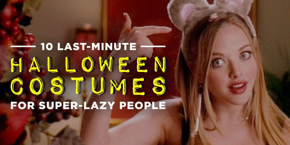 7 Last-Minute Halloween Costumes for Super-Lazy People Sexy - last minute halloween costume ideas for women
