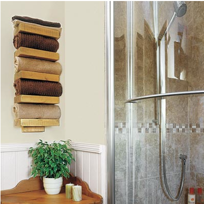 towel holder ideas. From This Old House: Idea Of The Day: Create Rustic Towel Holder With Cuts A Single Ideas