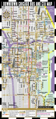 Streetwise Chicago Bus, CTA & Metra Map - Laminated Chicago Metro ...