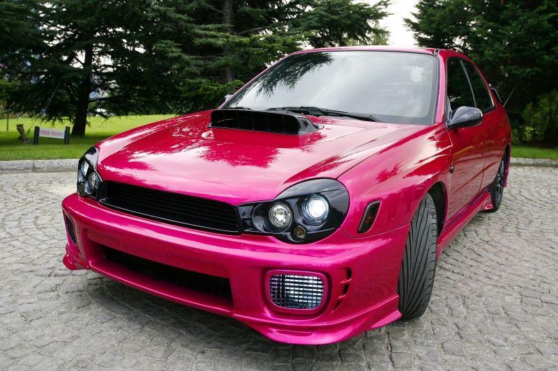 Pink Subaru sti by @lysluber! | Subaru impreza |Pink Subaru Impreza Wrx