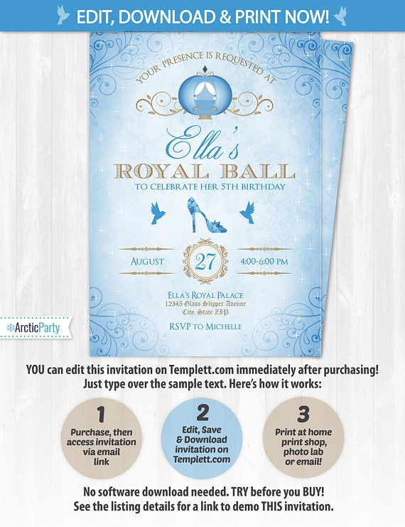Cinderella invitations cinderella birthday invitations cinderella cinderella invitations cinderella birthday invitations bookmarktalkfo Gallery