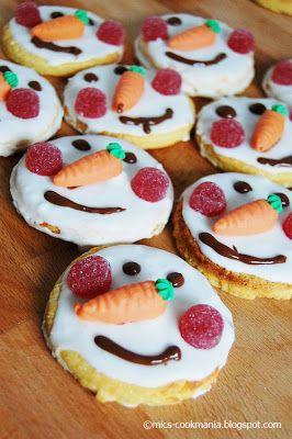 Schneemannkekse Lecker Lecker Christmas Biscuits Cookies Und