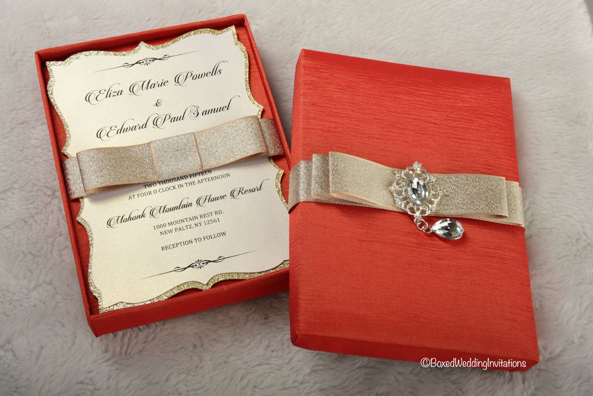 Boxed wedding invitation had ands by www.boxedweddinginvitations.com ...
