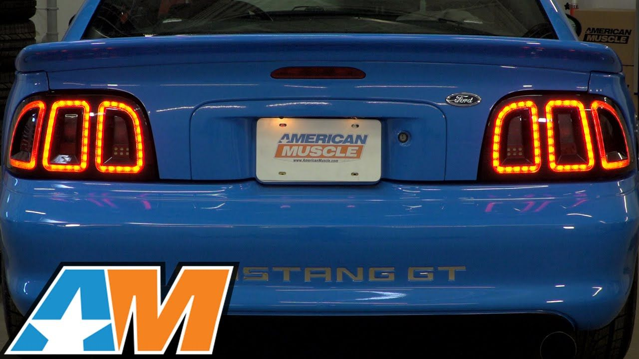 1996 1998 Mustang Raxiom Icon Led Tail Light Review Install Led Tail Lights New Mustang Tail Light