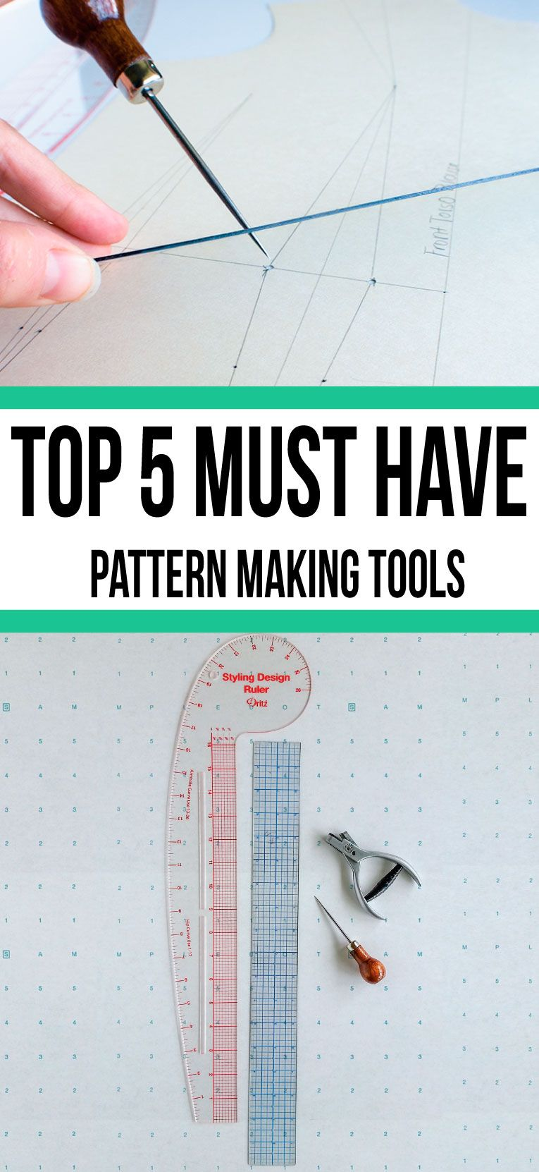 Top 5 MUST HAVE pattern making tools | Sewing | Pinterest | Patterns ...
