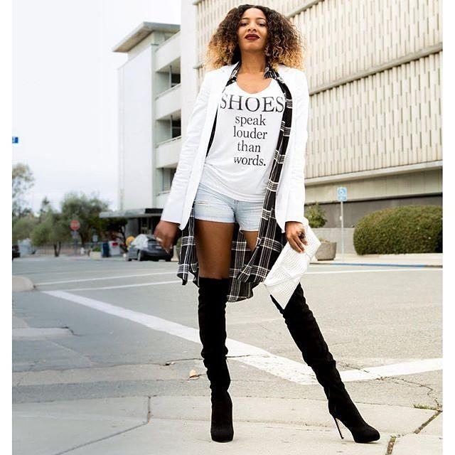 Shoes speak louder than words indeed.  (Photo: @tallnnatural) #fashion #fashiongram #style #love #currentlywearing #lookbook #wiwt #whatiwore #whatiworetoday #ootdshare #outfit #wiw #mylook #fashionista #todayimwearing #instastyle #instafashion
