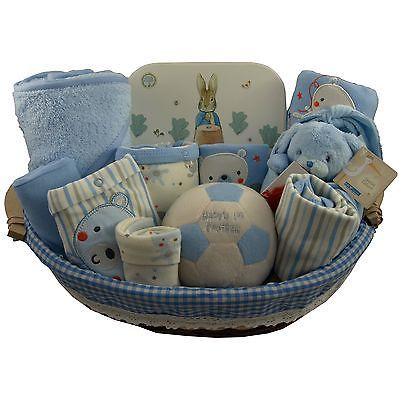 Baby gift basket/hamper #extra #large 7 pce clothes set boy baby #shower nappy ca,  View more on the LINK: http://www.zeppy.io/product/gb/2/131581389728/