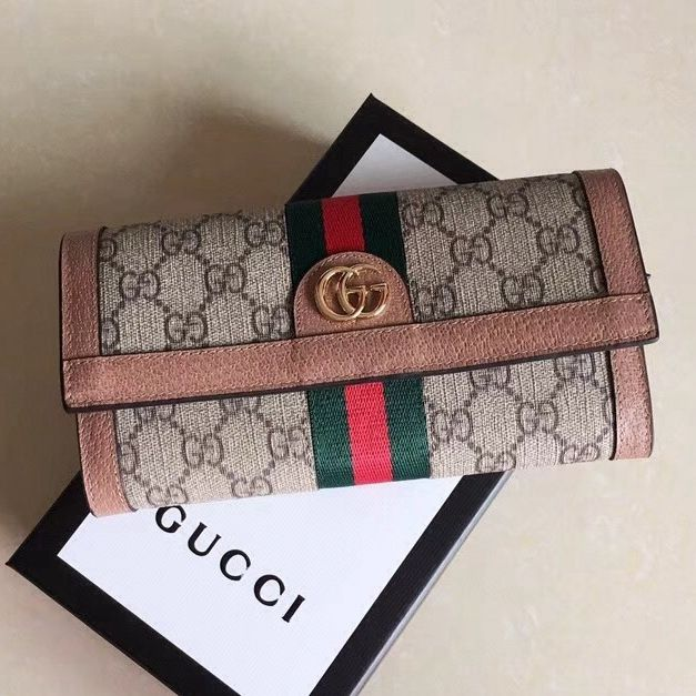 0f558c0ab54 Gucci Ophidia GG Continental Wallet 523153 Pink 2018