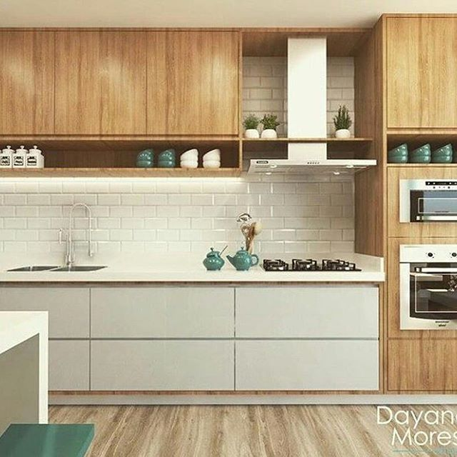Cozinha Super Clean Adorei O Detalhe Do Revestimento De