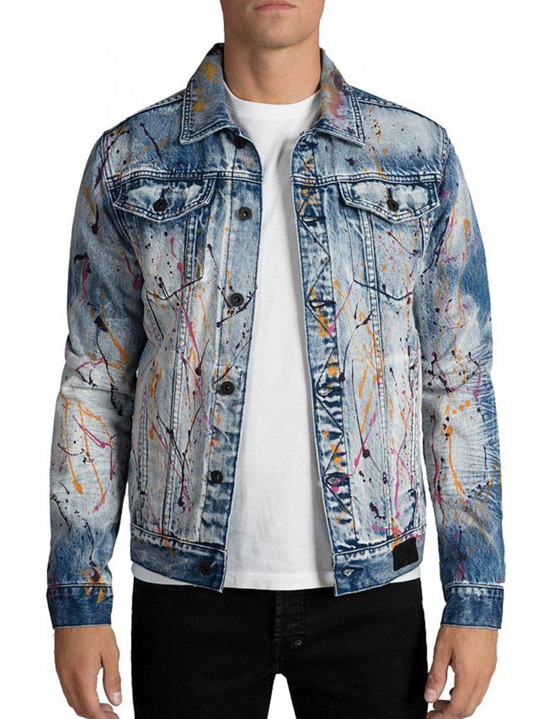 Denim Jacket Paint Splatter Prps Denim Jacket Denim Jacket Trend Wholesale Denim Jackets [ 1415 x 1080 Pixel ]