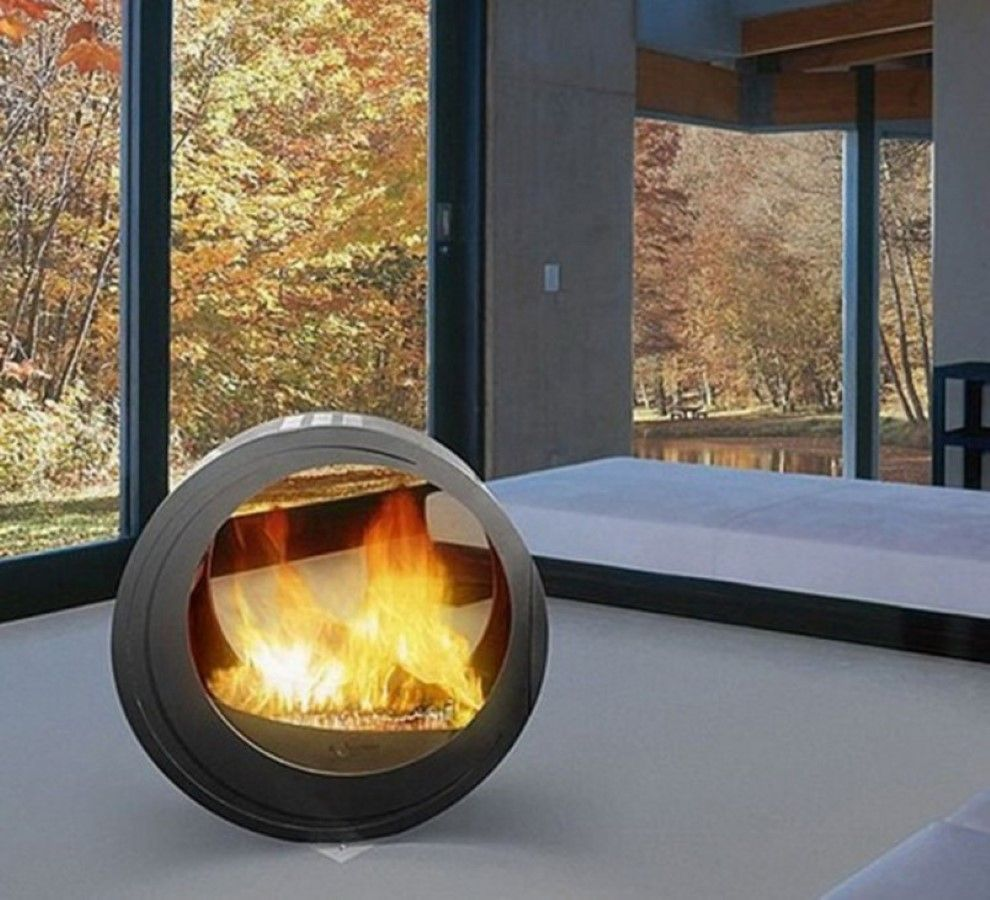 Back To Focal Point Of Free Standing Gas Fireplace Modern