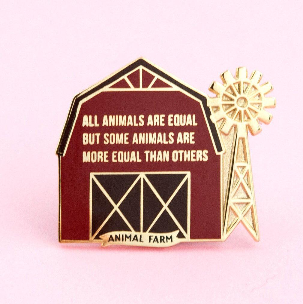 Animal Farm Enamel Pin Orwell, pin, dystopian pin