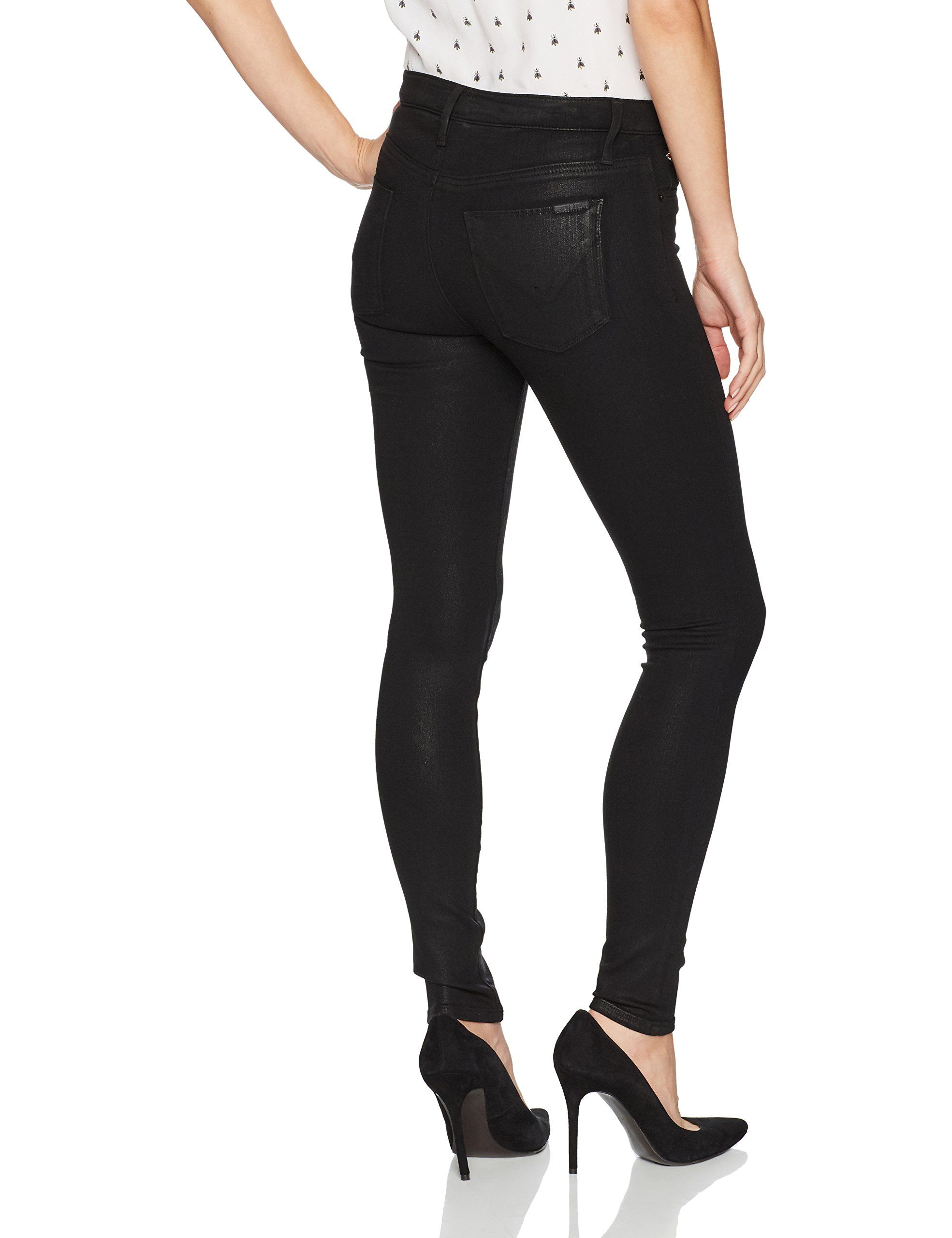 020078df5 Hudson Jeans Womens Nico Midrise Super Skinny Black Coated Noir 27 ***  Learn more by visiting the image link. (This is an affiliate link)  #fashionjeans
